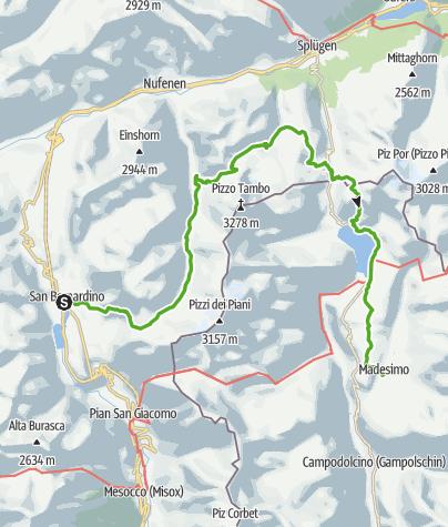 Kaart / S.Bernardino - Val Curciusa - Madesimo (Italien)