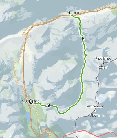 Kaart / S.Bernardino - Val Curciusa - Nufenen