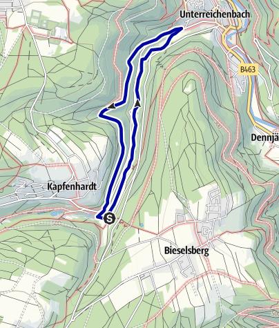 Karte / 5.2 Kapfenhardter Mühlen-Runde_Teil 2, Wanderglück Schömberg