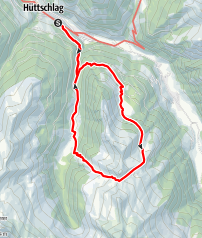 Map / Hüttschlag: Hirschgrubenalm - Aschlreitalm - Hühnerkaralm-Hub-Grundalm
