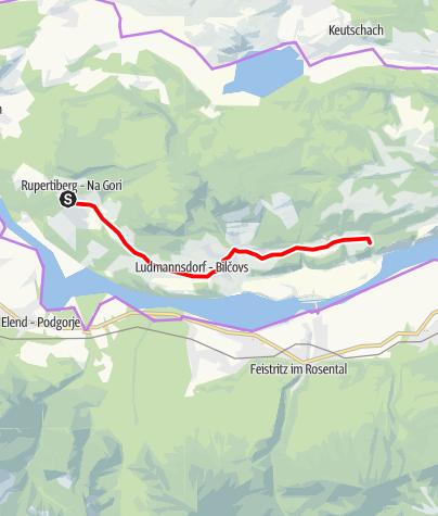 Karte / Teilstück Ironman - Panorama Radstrecke