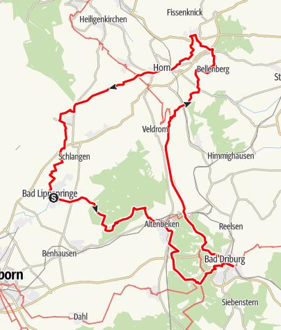 """Karte / """"Bäderweg"""""""