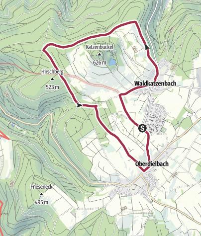 Karte / Auf dem Dach des Odenwalds