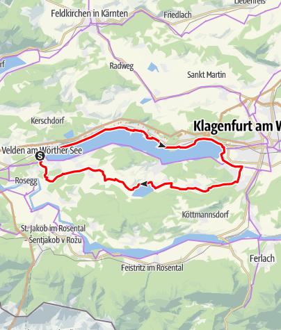 Karte / Wörthersee Rundfahrt (Wörthersee - Keutschacher Seental)