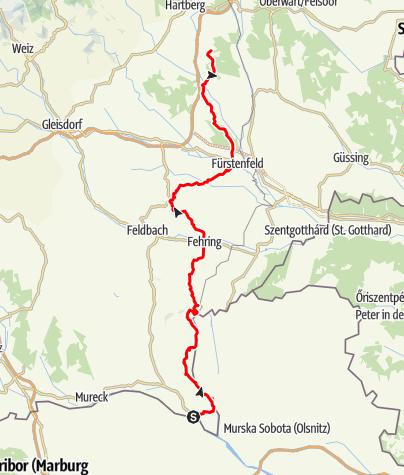 Karte / Mariazeller Weg Anbindung von Slowenien über Bad Radkersburg