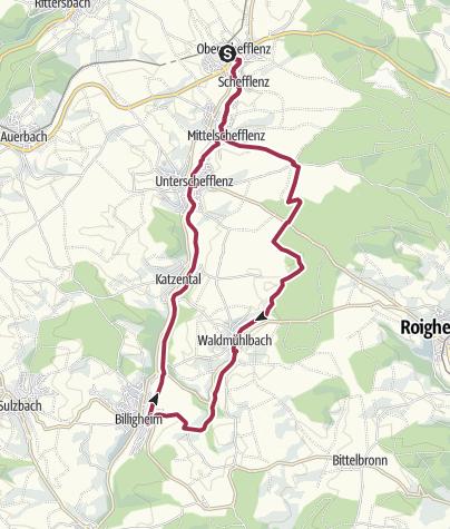 Karte / Genießerrunde im Schefflenztal