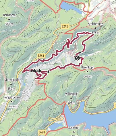 Karte / BaudenSteig Rundweg Nr. 2: Lerbach