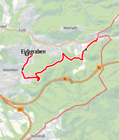 Map / Höhenwanderweg Eichgraben Rekawinkel