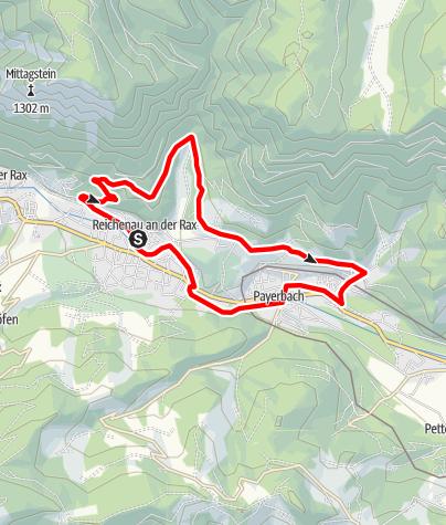 Karte / Thalhof - Strecke