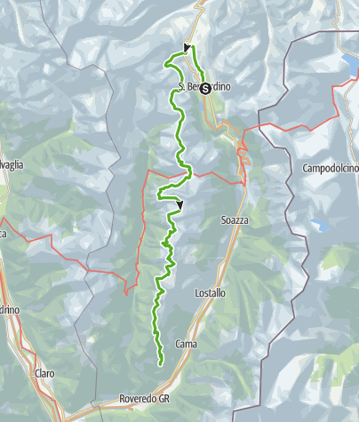 Karte / Alpin Wanderweg Calanca