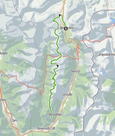 Cartina / Sentiero Alpino Calanca