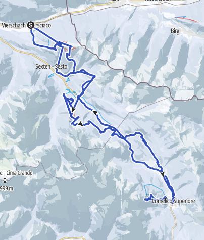 Cartina / Grande Giro delle Cime