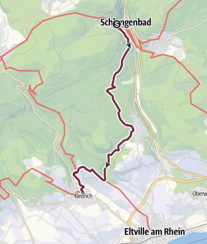 Karte / Rheinsteig 02. Etappe Schlangenbad - Kiedrich (Süd-Nord)
