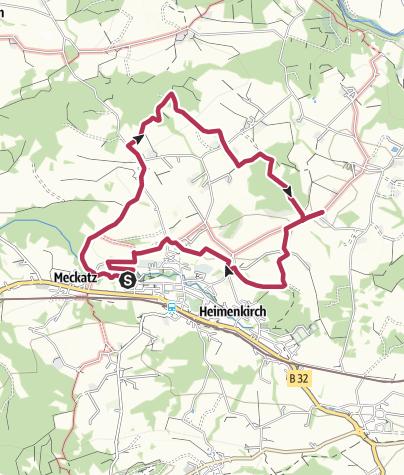 Karte / Streuobstwanderweg Heimenkirch - Alten Obstbäumen auf der Spur