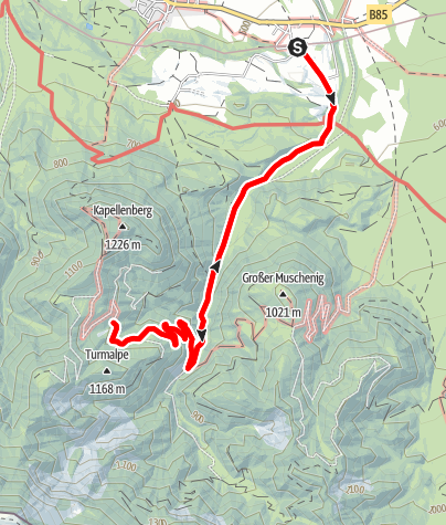 Karte / Wandertour Illitschalm / Rosental