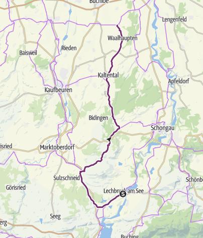 Karte / Schlossparkradrunde im Allgäu - Abschnitt 2