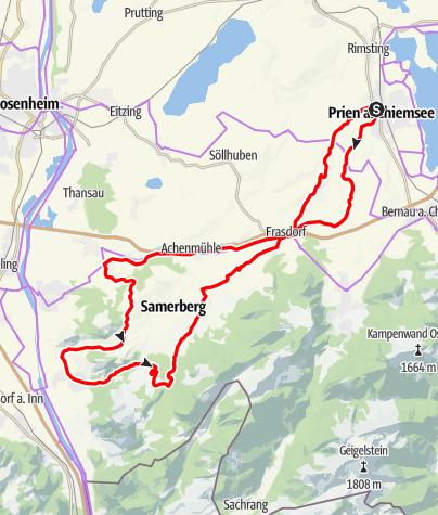 Karte / Über Frasdorf nach Nussdorf und zurück