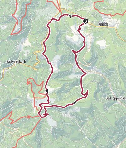 Karte / Kniebis: Über den Höhenweg zum Glaswaldsee und zurück