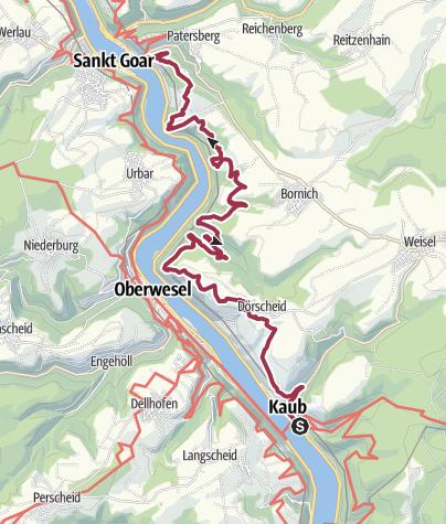 Kaart / Rheinsteig 7: Auf den Spuren der Loreley