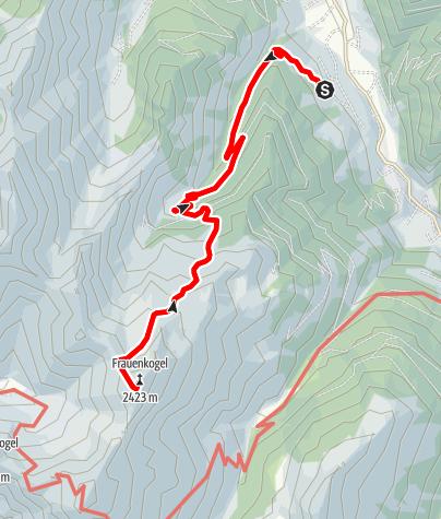 Karte / Großarl: Frauenkogel