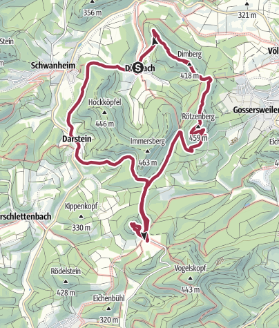 Karte / Weitblick-Tour Wasgau/Südpfalz
