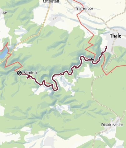 Karte / Harzer-Hexen-Stieg - 5. Etappe - von Altenbrak nach Thale