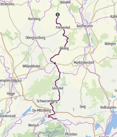 Karte / Schlossparkradrunde im Allgäu - Abschnitt 4