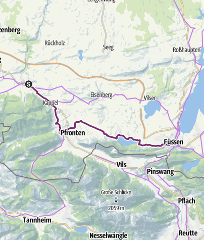Karte / Schlossparkradrunde im Allgäu - Abschnitt 5