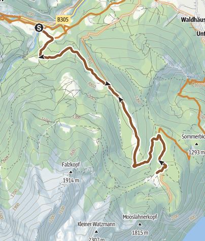 Karte / MTB: 10 - Kühroint über Ramsau