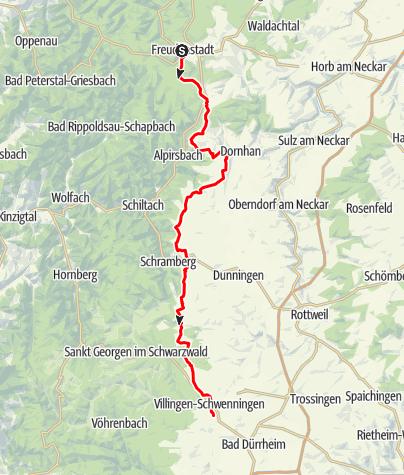 Karte / Schwarzwald Panorama-Radweg - Etappe 2