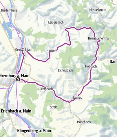 Karte / Radtour über die Höhen- Route 9