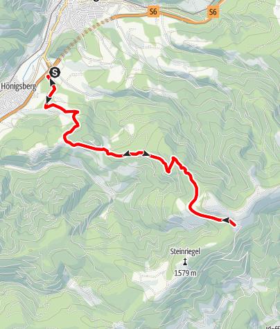 Karte / Mountainbikestrecke auf die Pretul