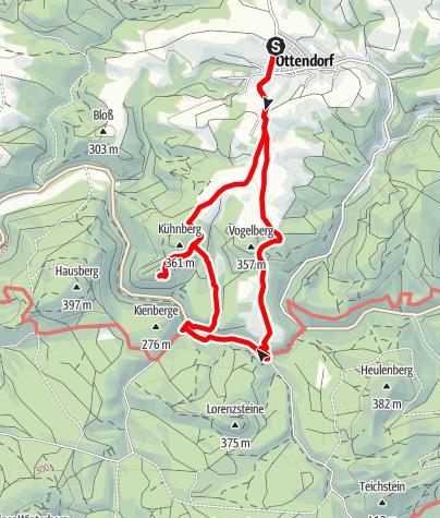 Karte / Zu den Mühlen im Kirnitzschtal