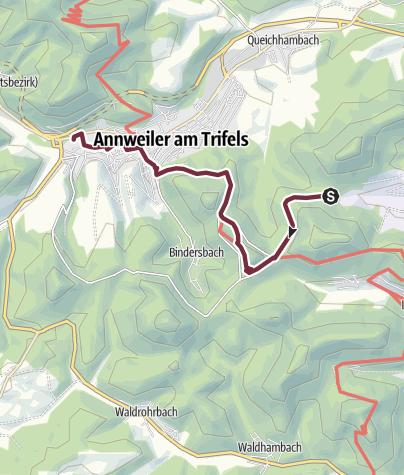 Map / 03 Leinsweiler - Von Platz Nr. 3 Leinsweiler zu Platz Nr. 4 nach Annweiler