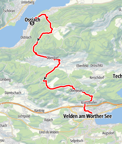 Karte / Etappe 20 Alpe-Adria-Trail: Ossiach - Velden