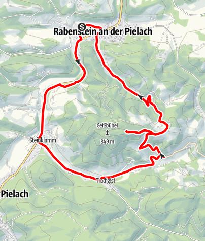 Térkép / Geisbuehel-Strecke