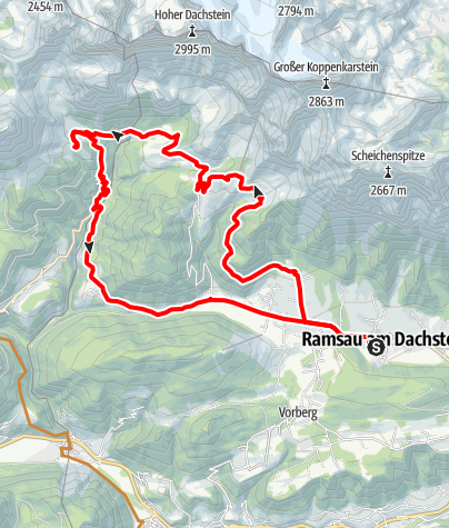 Karte / Mountainbike Tour Ramsauer Almenrunde