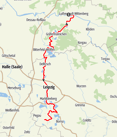 Karte / KOHLE | DAMPF | LICHT - Radroute
