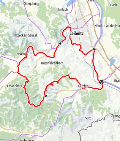 Karte / Genussradeln - Weinstraßen Tour Variante 1