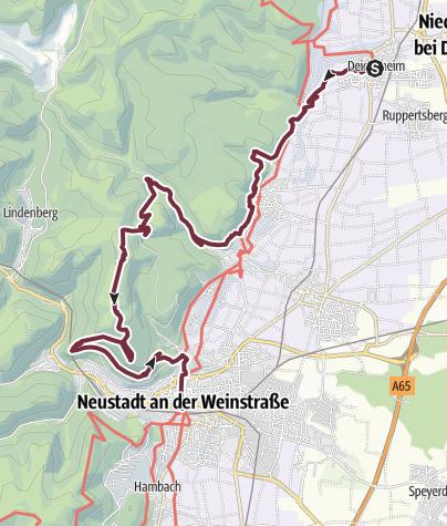 Map / Pfälzer Weinsteig Stage 4: Deidesheim - Neustadt an der Weinstraße