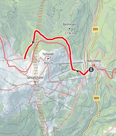 Karte / Wanderung ins Naturschutzgebiet Gontal
