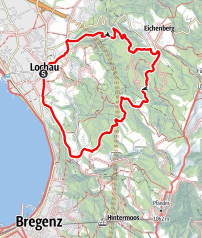 Karte / Lochau – Eichenberg – Lochau