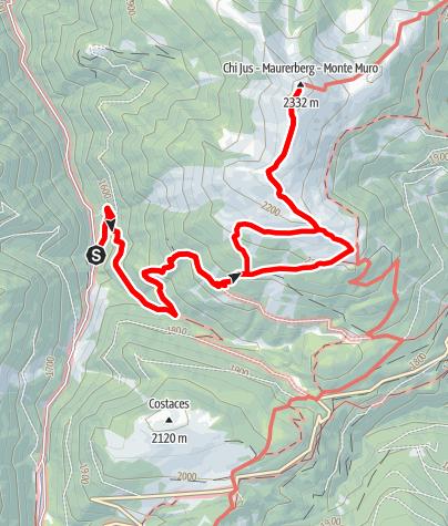 Map / Von Lüsen über die Pecolhütte zum Maurerberg