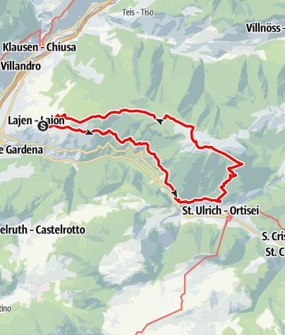 Karte / Raschötz-Rundweg in Lajen
