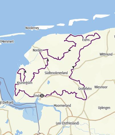 Karte / Friesische Mühlentour