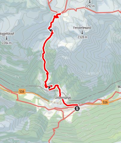 Karte / 'Stebok Wäg' von Dalaas zum Formarinsee/Freiburgerhütte   Dalaas