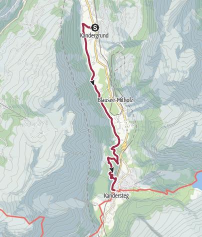 Karte / Dem Kandersteger Bergsturz entgegen