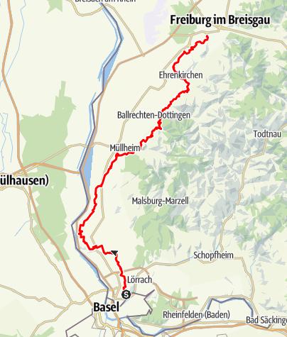 Karte / Markgräfler Wiiwegli - der Klassiker