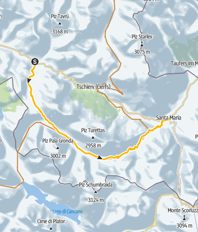 Karte / Buffalora - Val Mora - Sta.Maria