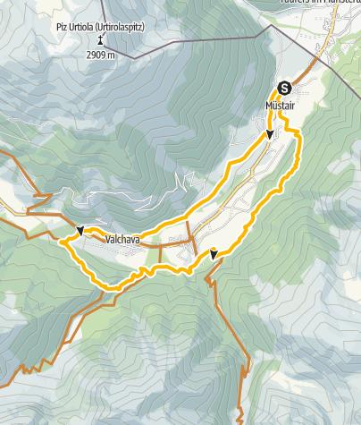 Karte / Talrunde Val Müstair – Auf den Spuren der einheimischen Bike-Cracks